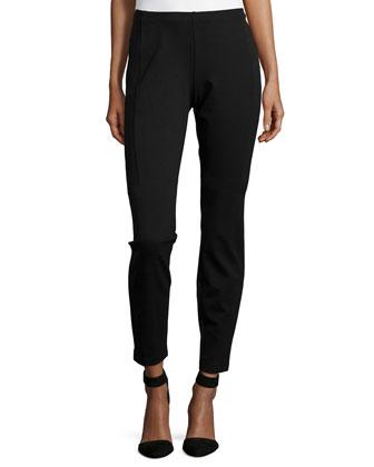 Heavyweight Knit Slim Pants, Black