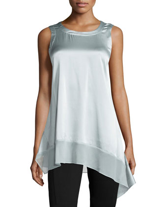 Stretch Silk Asymmetric Tunic