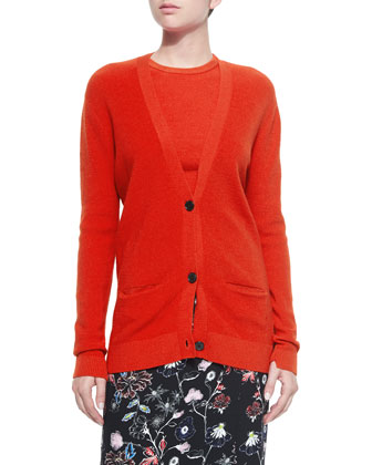 Philip Button-Front Cardigan, Hansen Cropped Sweater & Daniels Floral-Print ...
