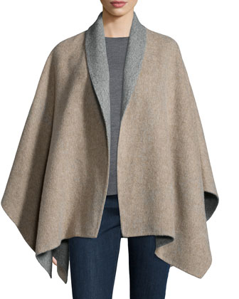 Fisher Project Baby Alpaca Poncho, Merino Jersey Box Top, Cloud Infinity ...