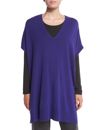 Short-Sleeve Merino Jersey Tunic
