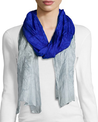 Short-Sleeve Merino Jersey Tunic, Long-Sleeve Jersey Cozy Tee, Silk Ombre ...