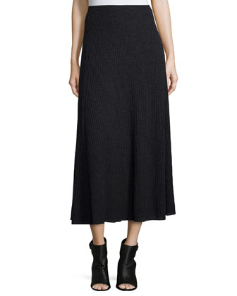 Fisher Project Merino Pleated Long Skirt