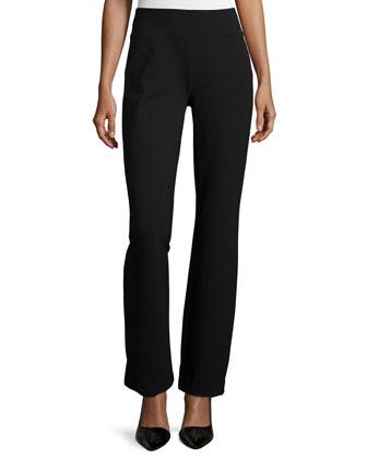 Long-Sleeve Wool-Cashmere Tunic & Ponte Boot-Leg Pants, Women's