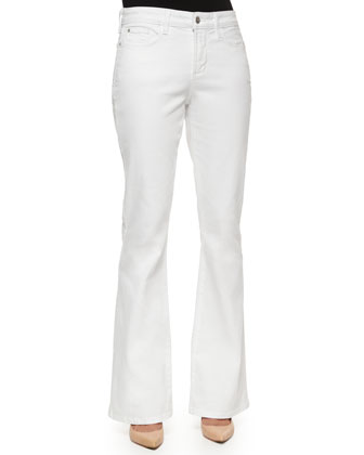 Farrah Flare-Leg Jeans, Optic White