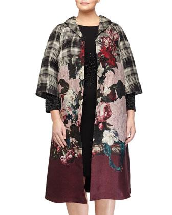 Tazzina Printed Organza Coat & Dolomiti Beaded Sheath Dress, Women's