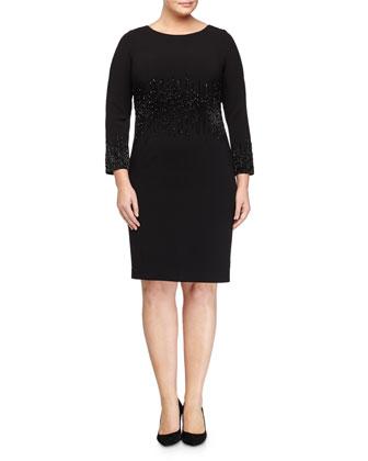 Dolomiti Beaded Sheath Dress, Women's