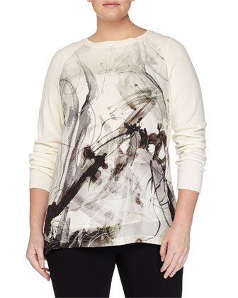 Alamaro Printed-Front Sweater, Women's