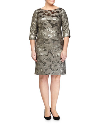Dublino Metallic Jacquard Dress, Women's