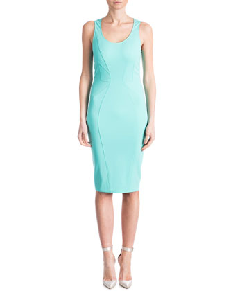 Cindy Contour Sheath Dress, Lagoon