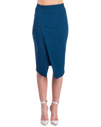 Marcy Faux-Wrap Skirt