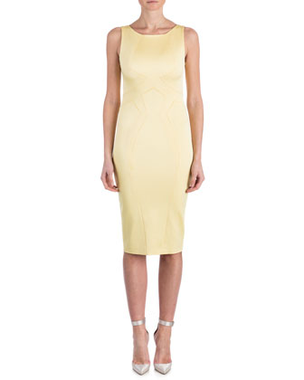 Lydia Sleeveless Satin Sheath Dress