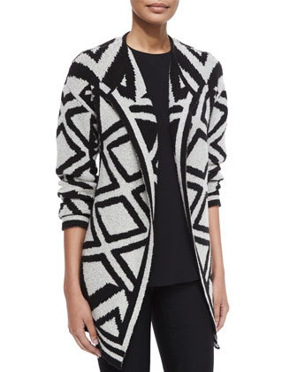 Mirrored Angles Open Jacket