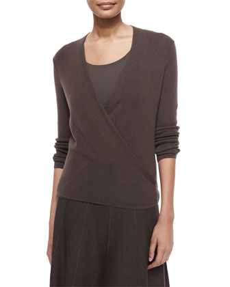 4-Way Linen-Blend Knit Cardigan, Jersey Scoop-Neck Tank & Paneled Twirl ...