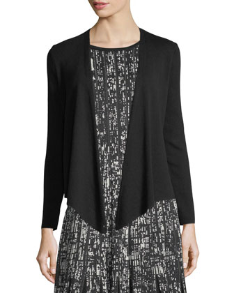 4-Way Linen-Blend Knit Cardigan, Perfect Jersey Scoop-Neck Tank & Paneled ...