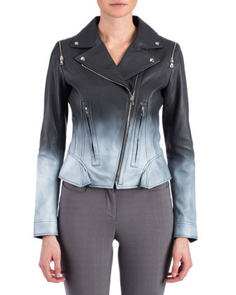 Edie Ombre Leather Jacket