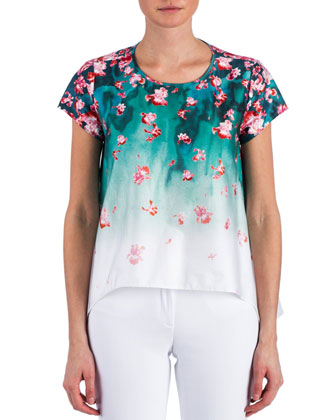 Juni Short-Sleeve Floral Top