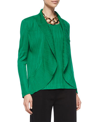 Textured Cascade Jacket, Putting Green