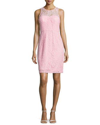 Harlow Sleeveless Lace Cocktail Dress