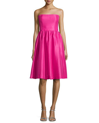 Georgina Strapless Fit & Flare Dress