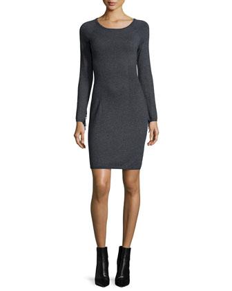 Fringe-Sleeve Body-Conscious Dress