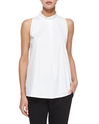 Talniza Sleeveless Lux Top, White