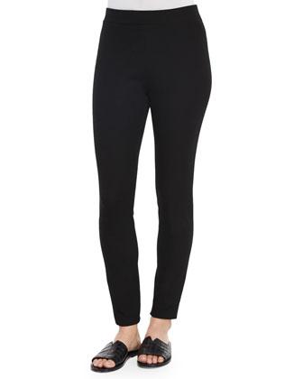 Eldora Houndstooth-Patterned Vest & Adbelle Pull-On Stretch Leggings