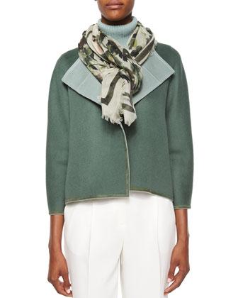 Odene Reversible Wool-Cashmere Topper, Cashmere Turtleneck, Garden ...