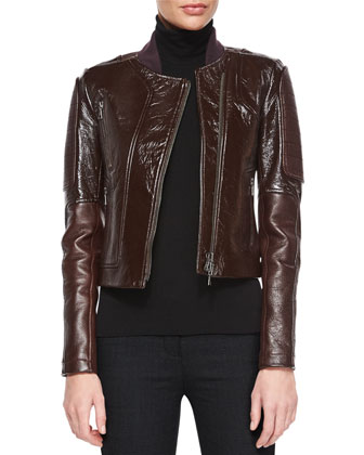 Shezi Polished Leather Jacket