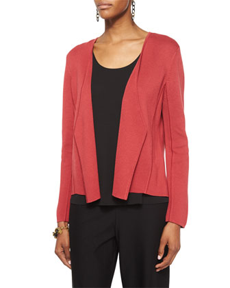 Silk Organic Cotton Interlock Angled Jacket, Stretch Silk Jersey Tank, Silk ...