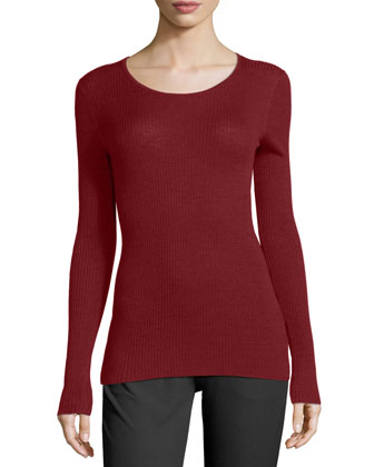 Mirzi Long-Sleeve Ribbed Sweater & Adalwen Jetty Slim Zip-Pocket Pants