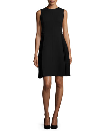 Doria Sleeveless Pleated Dress