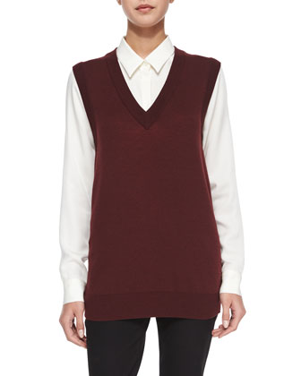 Audria Preen Reversible Sweater Vest, Eliezer Turtleneck Long-Sleeve Top & ...