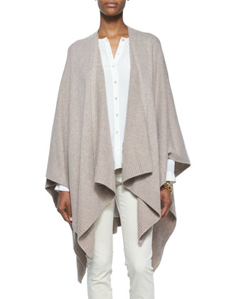 Cozy Luxe Wool Poncho Cardigan, Petite