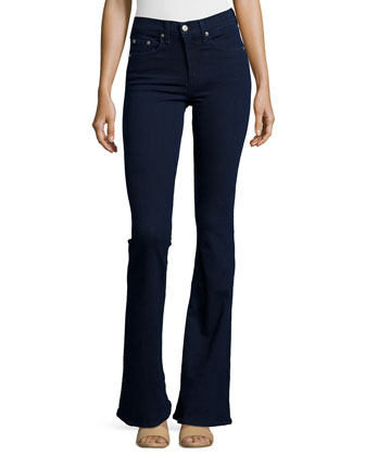 Beckett High-Rise Bell-Bottom Jeans, Rivington