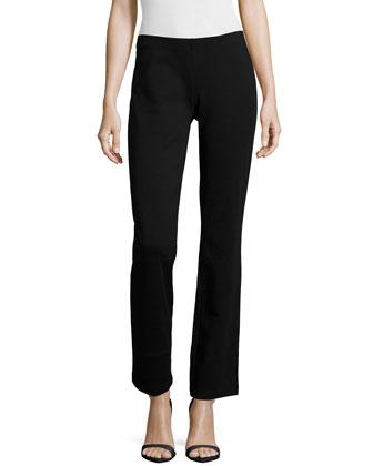Boot-Cut Ponte Pants, Black, Women's