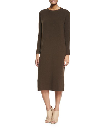 Twisted Ribbed Long Cashmere Dress