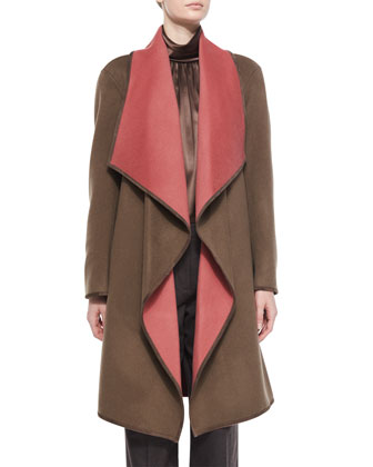 Felice Reversible Wool-Blend Coat
