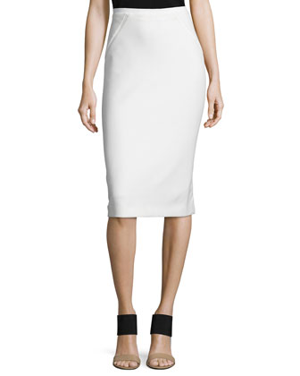 Giada Cropped Sweater & Harla Midi Pencil Skirt