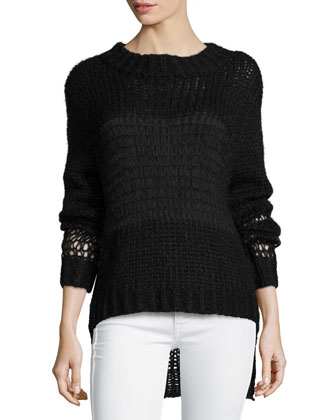 Cobweb Crewneck Sweater, Black