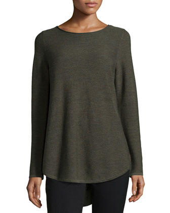 Long-Sleeve Merino Wool Tunic