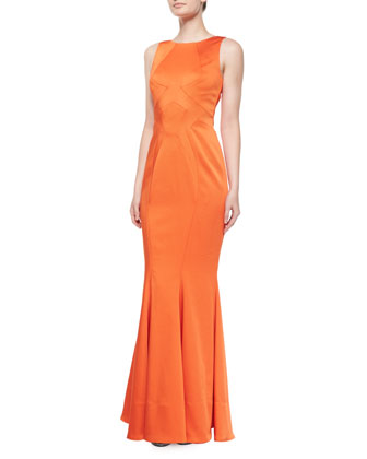 Lydia Sleeveless Satin Mermaid Gown