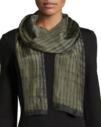 Sleek Tencel??/Merino Top, Long Silk Jersey Tunic, Silk Shibori Latitudes ...