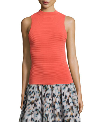Mock-Neck Sleeveless Tank