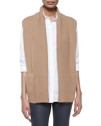Link-Stitch Knit Vest