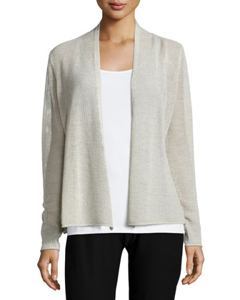 Long-Sleeve Mesh Cardigan, Women's