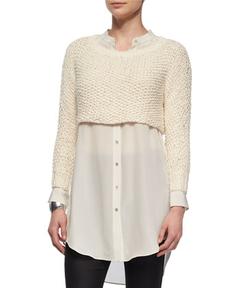 Fisher Project Textured Crop Top