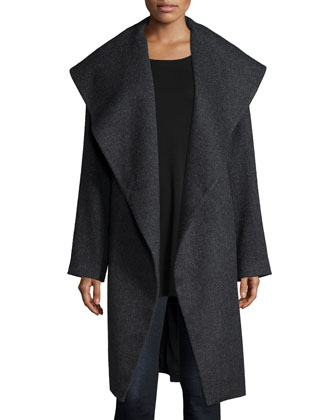 Fisher Project Tweed Coat, Wool Scarf, Silk Long-Sleeve Tunic & Fisher ...