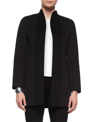 Double-Faced Brushed Wool Coat
