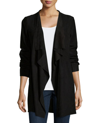 Fisher Project Draped Suede Jacket, Silk Jersey Long Slim Camisole & ...